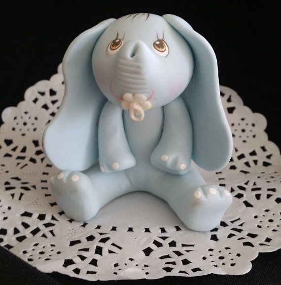Elephant Cake Topper Made Of Cold Porcelain Great For Jungle Birthday,  Centerpieces, Diaper Cakes, Favors And Cakes Decorations Perfect For