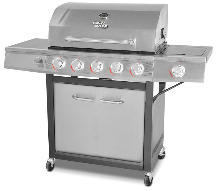 is your dad a foodie? Give him this  Grill Chef 72,000 BTU Dual-Fuel BBQ from The Brick.