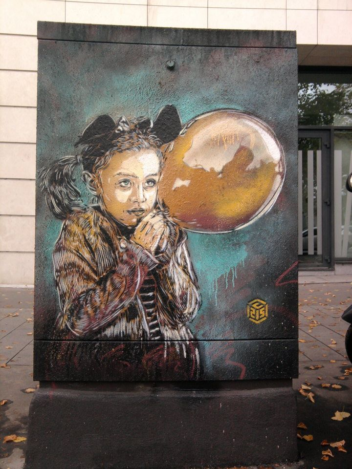 street art paris C215