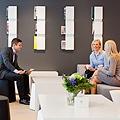 ÅF:llä on Alberga Business Parkissa myös oma viihtyisä aula.