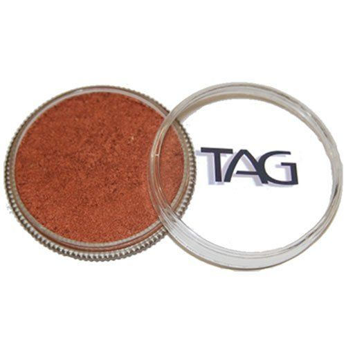 TAG Face Paints - Pearl Copper (32 gm) by TAG Body Art. $7.65. TAG face paint is hypoallergenic and made with non-toxic, skin safe ingredients.. Great for line work. TAG Face Paint is very easy to blend, soft on the skin and does not crack or peel.. TAG Pearl Face Paint is a little softer than TAGs regular paints and contain Mica for a metallic sheen. TAG Pearl Face Paint does not contain any metal.. Each 32 gram TAG Face Paint Container is good for 50-200 appl...