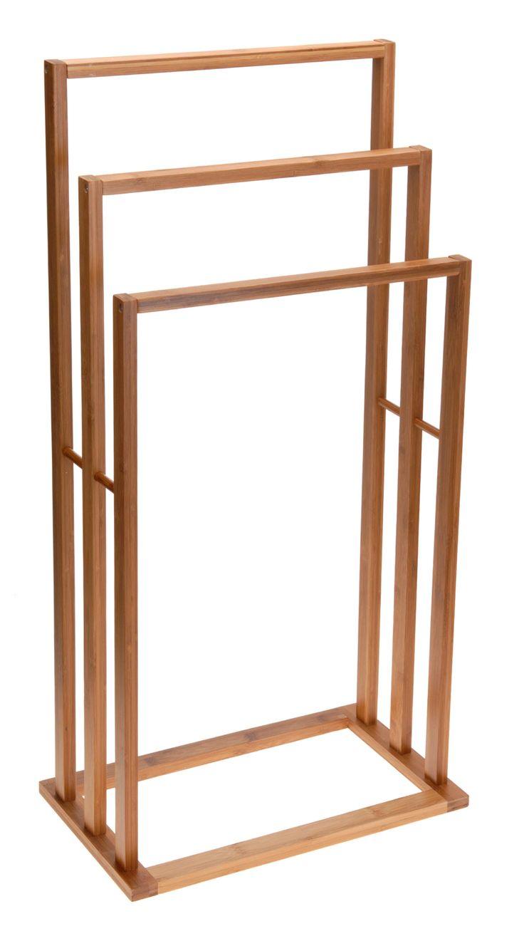 ide pour la salle de bain un porte serviettes en bambou. Black Bedroom Furniture Sets. Home Design Ideas