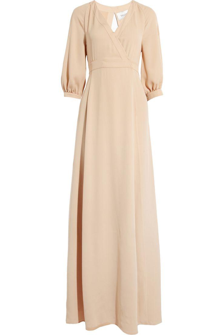 VALENTINO Silk-twill gown, $1650