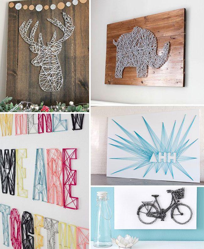 Découvrez toutes les possibilités originales que Made in Meubles a trouvé pour habiller votre mur vous-même. ➨ DIY faciles à réaliser !