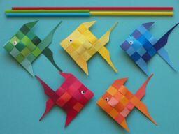 Mobile poisson papier