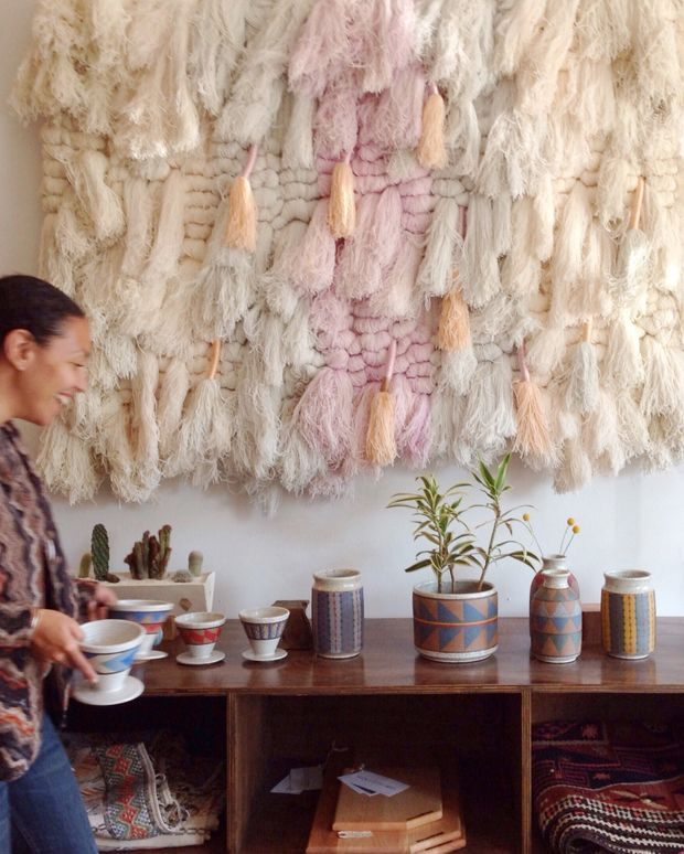 Incredible weaving for Pop-up shop at Platform