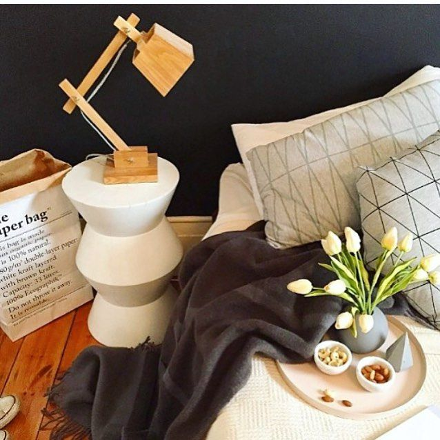 This is the place to be, cosy in bed with a few snacks and a super warm wool blanket. Love this  by @sarahshanahan_lifestyle for @_adelady . Shop this look online now @whitehomeboutique #bedroom #bedroomstyle #cosy #everydayluxury #whitehomeboutique #shoponline