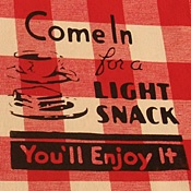 Come in for a Light Snack Gingham Dinner Napkins (4)