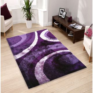 Hand-tufted Purple Shag Area Rug (5' x 7') | Overstock.com Shopping - The Best Deals on 5x8 - 6x9 Rugs