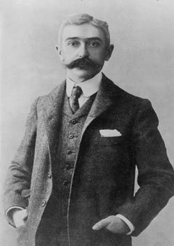 Baron Pierre de Coubertin, the French sports enthusiast who revived the modern Olympic Games in Athens in 1896.