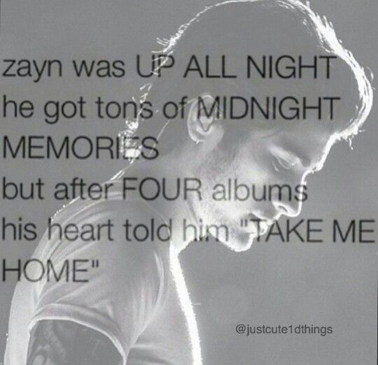 Zayn Malik / Up All Night / Take Me Home / Midnight Memories / Four / One Direction