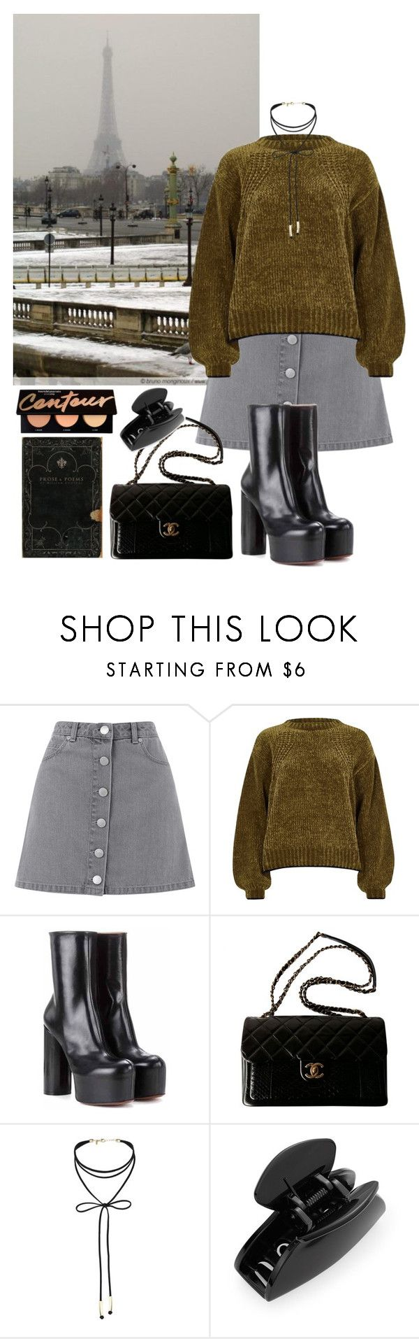 Untitled #439 by danielagreg on Polyvore featuring River Island, Miss Selfridge, Vetements, Chanel and Cara