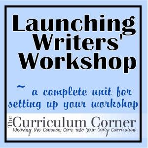 Looks like a great way to show beginning writers the process of writing and set your expectations for that block of time.