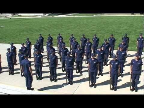 coast guard boot camp uniform-183 manual arms - YouTube