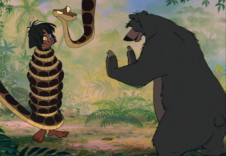Картинки каа из книги джунглей
