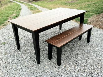 Farmhouse Style Dining Table - A beautiful, classic example of our fabulous Farm Tables!
