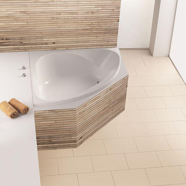 Oltre 25 fantastiche idee su vasca da bagno ad angolo su - Mezza vasca da bagno ...