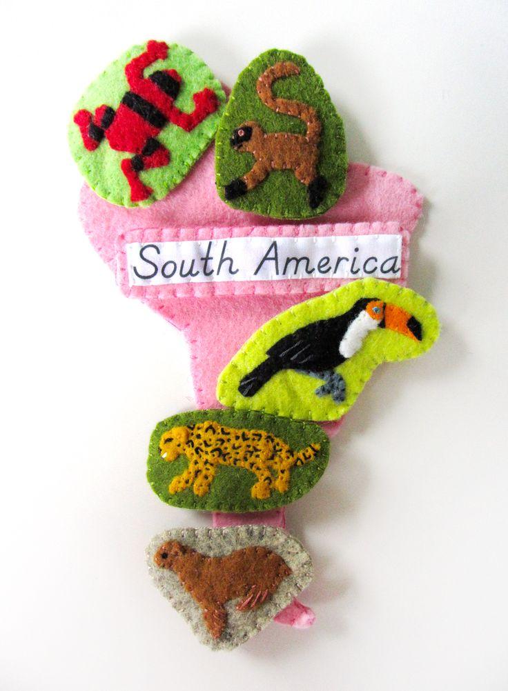 Animals of South America for the Montessori