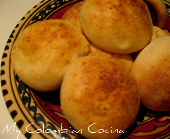 Almojabanas or Corn and Cheese Bread. This is a great recipe for appetiser or snack and very popular in the Andean region of Colombia. Very easy to make, just like the Pandebos or Pandeyucas but with different flour.