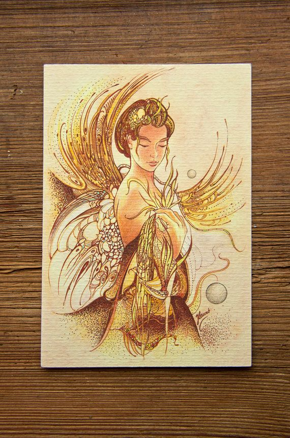 """THE VIRGO"" - ""Threads of Life"" Protective Angel for Zodiac Sign... for those born 23 August – 22 September"