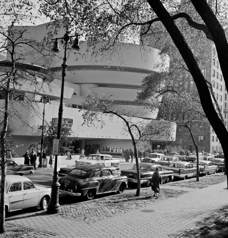 Frank Lloyd Wright — Opening Day of the Solomon R. Guggenheim Museum, October 21, 1959.