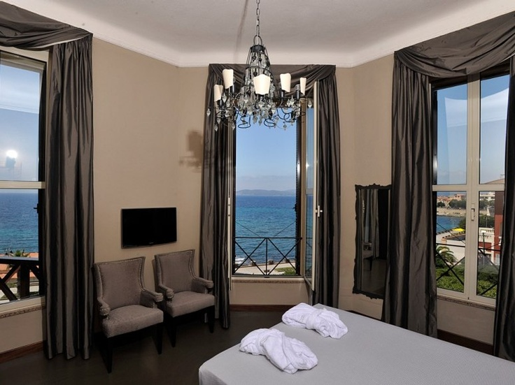 VILLA MOSCA  Alghero, Italy    italy + beach + chandelier + luxury hotel = right up my alley
