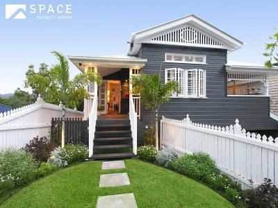 charcoal + white weatherboard