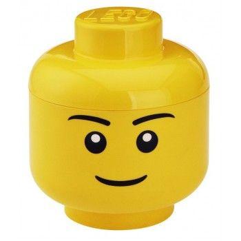 LEGO Pojemnik głowa L Chłopiec