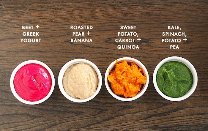 The Cool Mom Eats no-stress guide on how to start solids: When starting solids, serve a wide range of flavors and nutrients, like the ones found in these 4 Baby Food Favorite combinations at Plum Pie Cooks