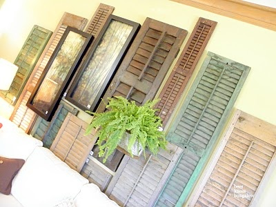 Why can't I think of these ideas?  Mismatched shutter wall!