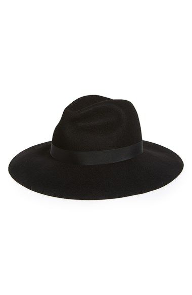 Free shipping and returns on Topshop Wide Brim Fedora at Nordstrom.com. Tonal ribbon wraps an old-school fedora fashioned from felted wool. $52
