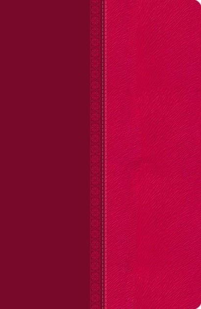 NKJV Giant Print Center-Column Reference Bible-Raspberry Pelt LeatherSoft Indexed