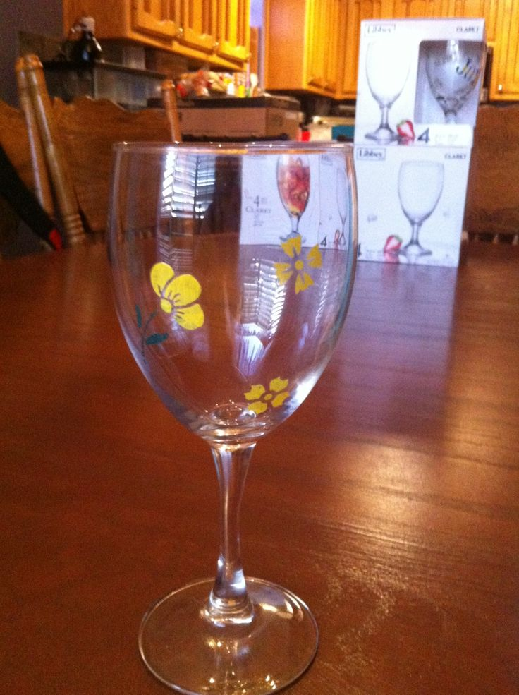 39 best images about painted bottles on pinterest for Type of paint to use on wine glasses