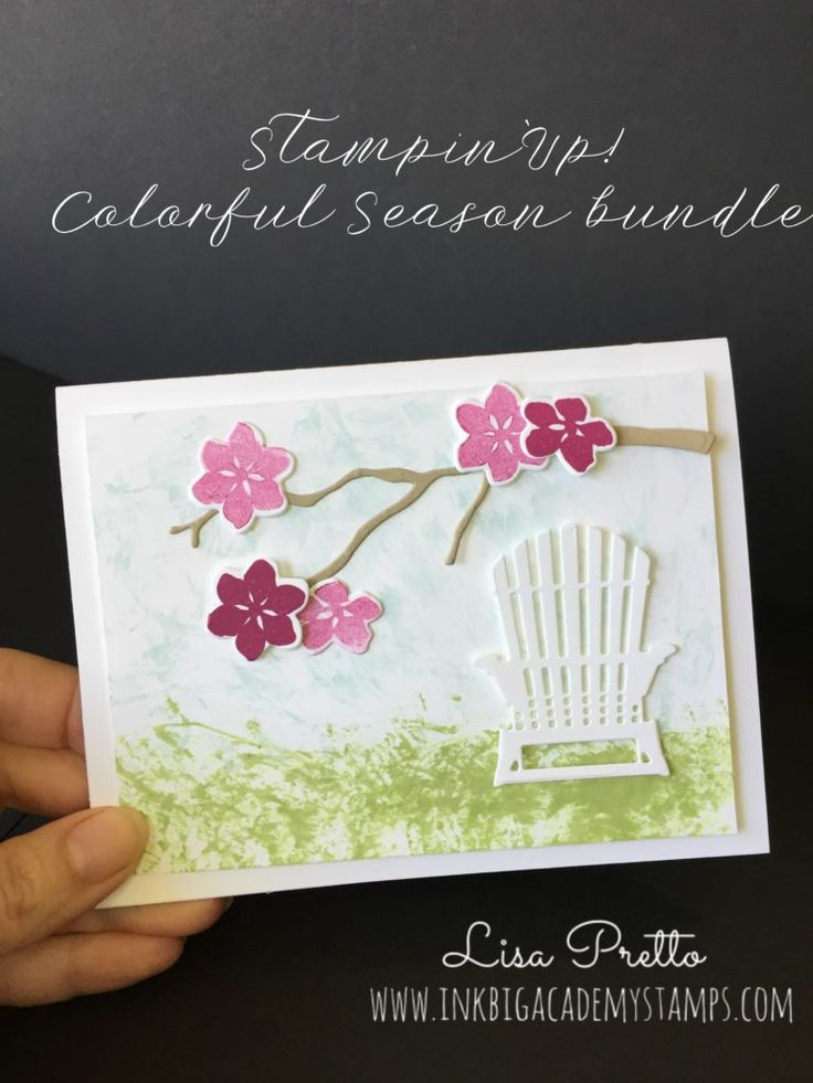 Stampin'Up! Colorful Season bundle, sneak peek 2017-2018 Stampin'Up! Catalog, Seasonal Layers Thinlits, spring, cherry blossoms, just breathe, technique, clean and simple