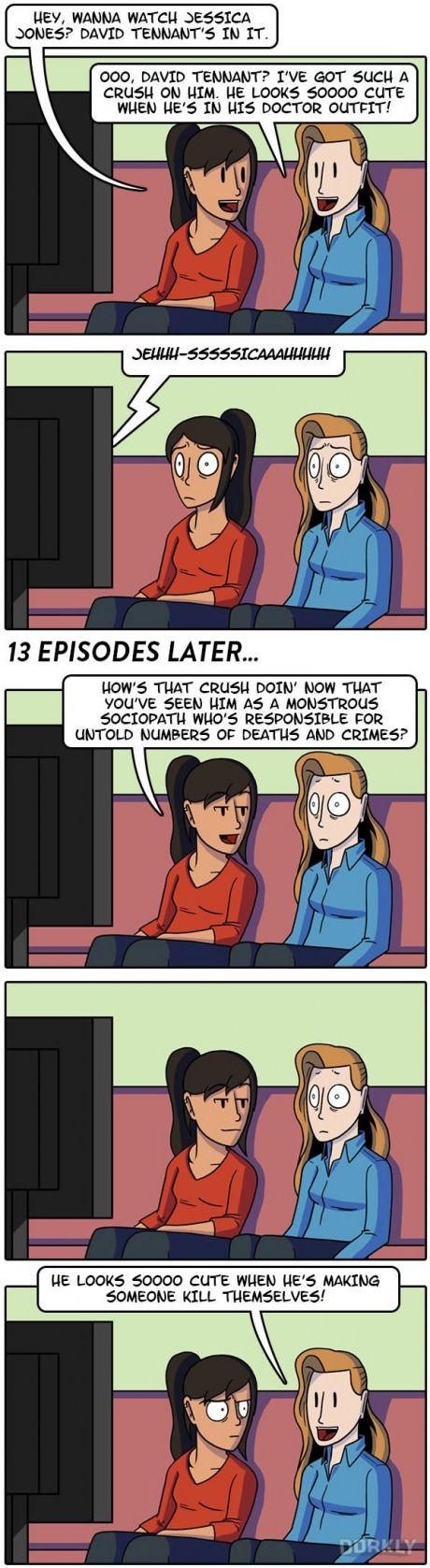 David Tennant Fans vs. Jessica Jones