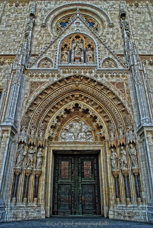 The Zagreb Cathedral, Croatia. It is dedicated to the Assumption of Mary and to kings Saint Stephen and Saint Ladislaus. #croatia #zagreb