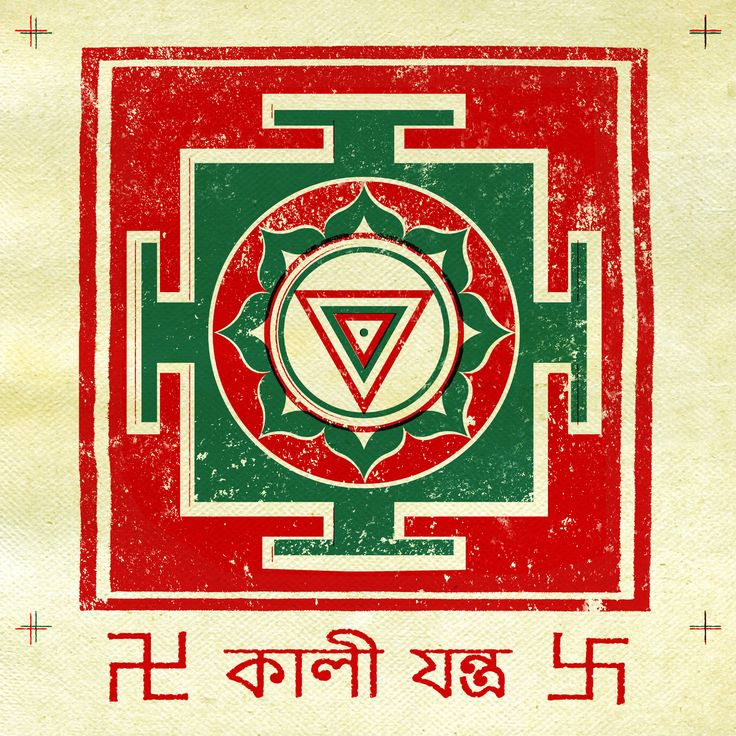 Kali Yantra - Triangle. The vedic symbols!