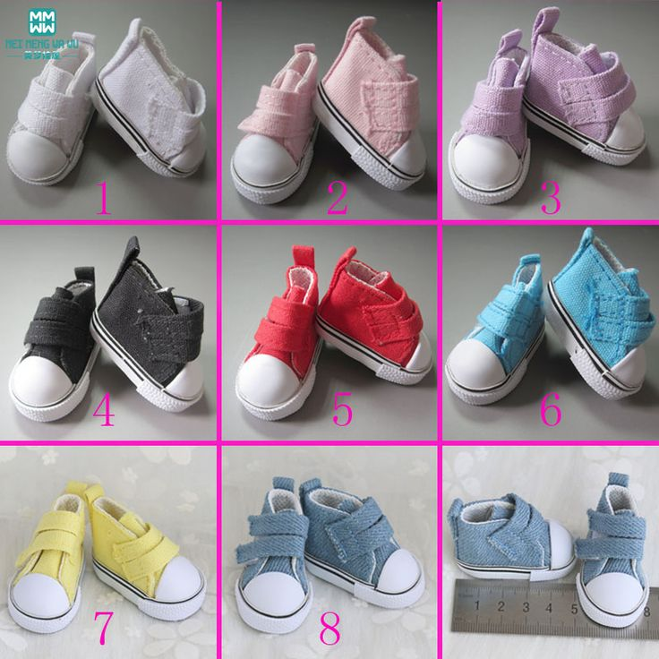 Bebek Aksesuarları ayakkabı 5 cm Moda Denim Tuval Mini Oyuncak Shoes1/Tilda Için 6 Bjd Snickers