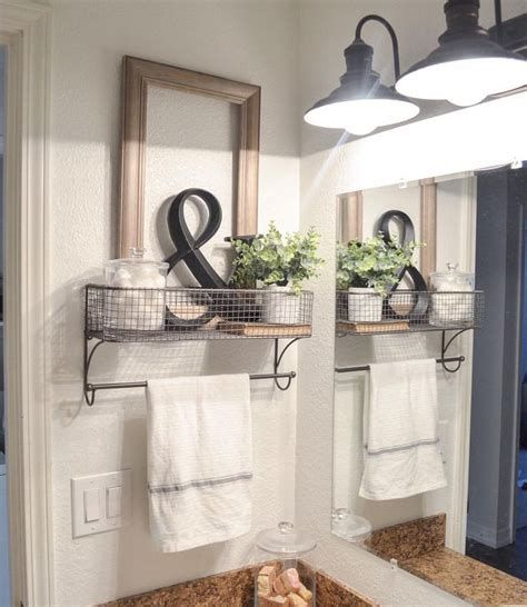 Just Towel Rods And Baskets Made This Brilliant Bathroom: Hobby Lobby Decorating…   – Brilliant Solutions Bathroom Organization and Storage DIY