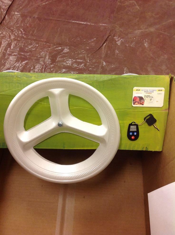 Steering wheel for cardboard car