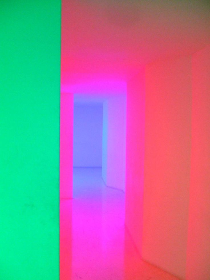 Looks like a Dan Flavin installation.  Color makes me happy!