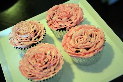 Flower cupcakesFlower Cupcakes, Cupcakes Rosa-Choqu