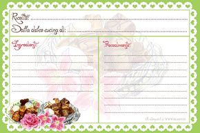 recipe card stampabili