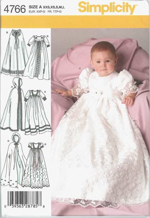 Christening Baptism Gown Dress Cape Pattern New by relativelyretro, $4.75