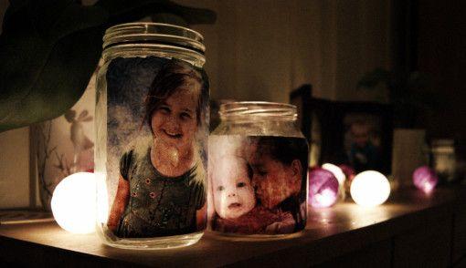 Bursdagsinspirasjon - Lyslykt med bilde. | Idebank for småbarnsforeldreIdebank for småbarnsforeldre