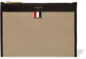 Thom Browne Leather-Trimmed Canvas Wallet #ad