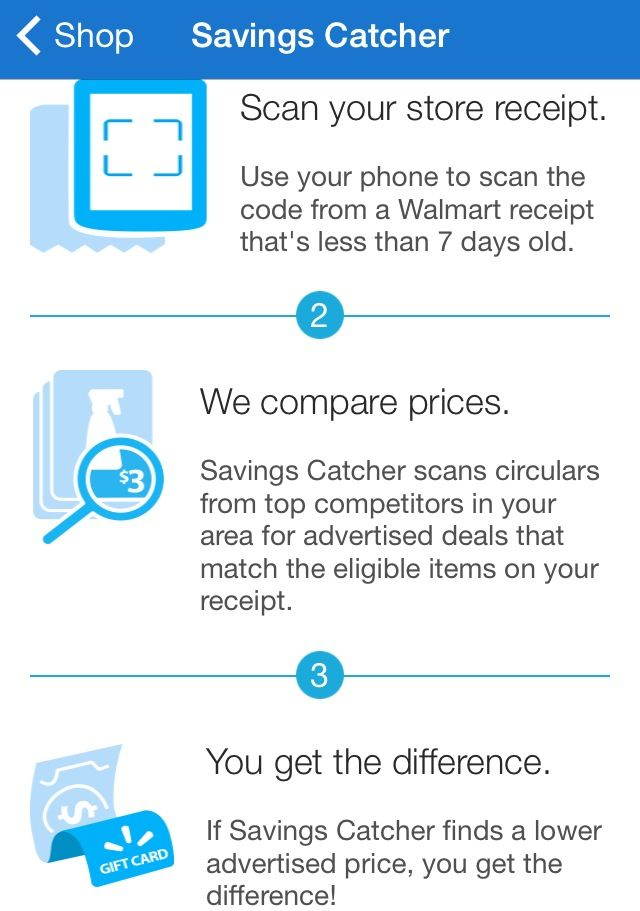 This WALMART app is an awesome saver!! Shop, scan the