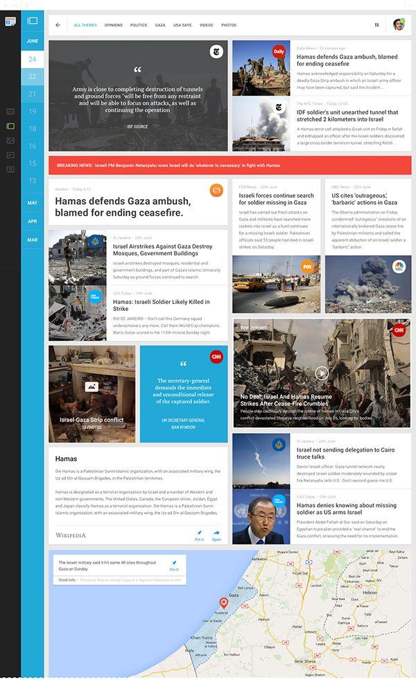 Functional and visual redesign of Google News / George Kvasnikov