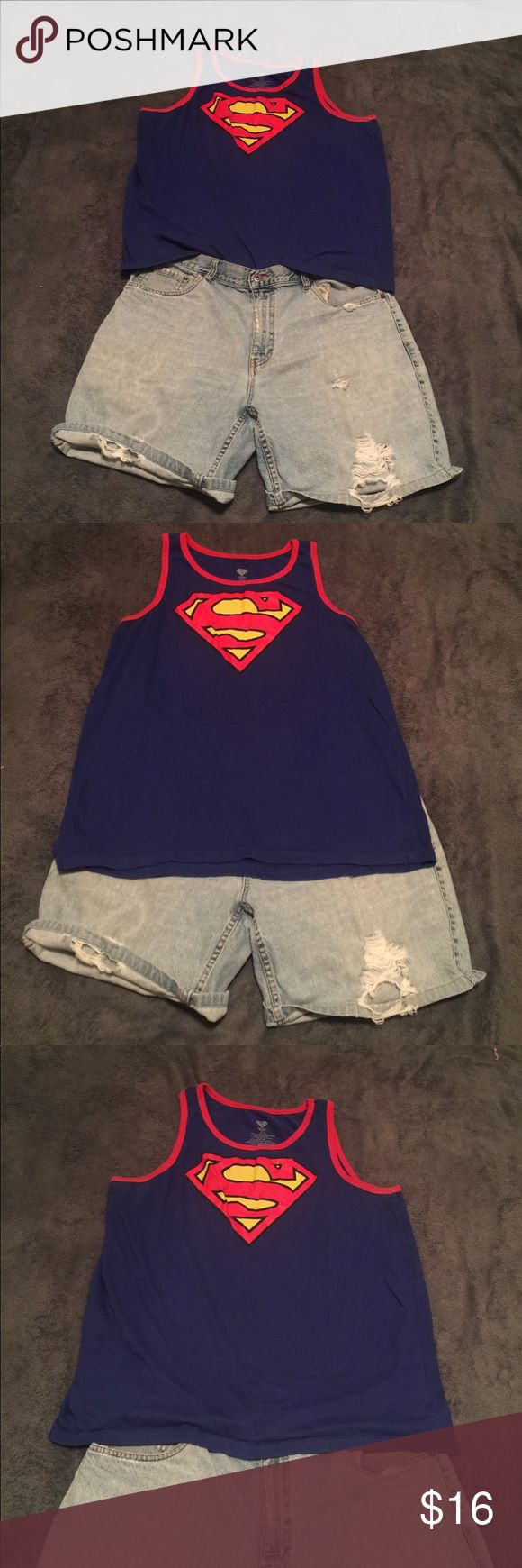 Superman Tank Top New without tag never worn Superman Tank Top Size XL Superman Shirts Tank Tops
