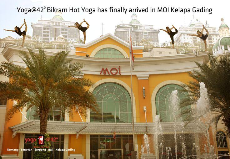 Yoga@42 Bikram Yoga Jakarta Arriving in kelapa gading.  www.bikramyogajakarta.com